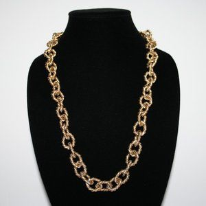 """Long gold chain link necklace 36"""""""